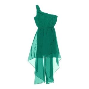 Trixxi Dresses - Emerald Green One Shoulder Dress